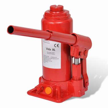 vidaXL Cric hydraulique pour voitures 5 tonnes Rouge[2/6]