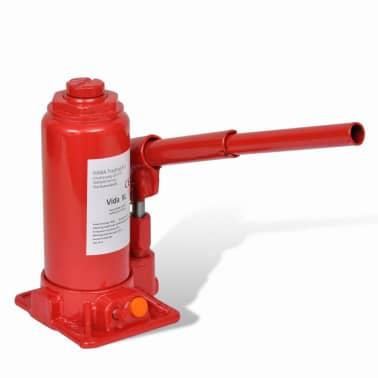 vidaXL Cric hydraulique pour voitures 5 tonnes Rouge[3/6]