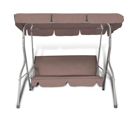 Hang schommelstoel met luifel voor buiten (koffie kleur) 3 personen[2/5]