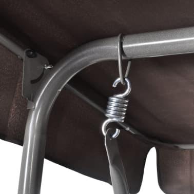 Hang schommelstoel met luifel voor buiten (koffie kleur) 3 personen[3/5]
