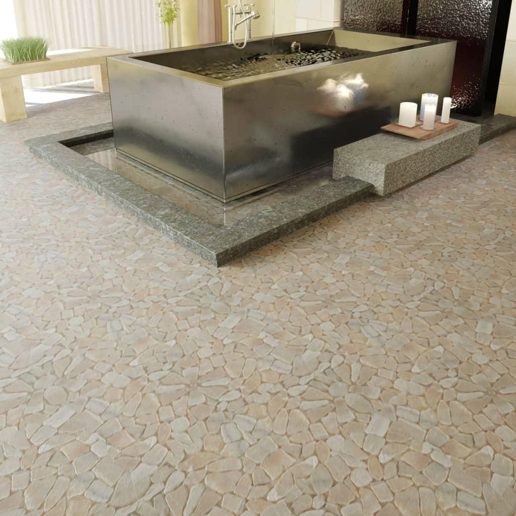 Dale de marmură mozaic1,8 mp, Auriu poza vidaxl.ro