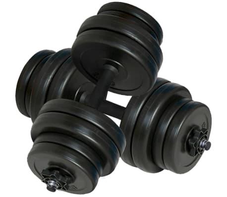 Bancă fitness, halteră și set gantere[8/14]