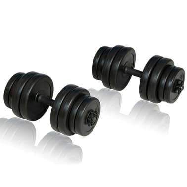 Bancă fitness, halteră și set gantere[7/14]