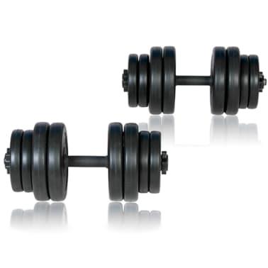 Bancă fitness, halteră și set gantere[9/14]