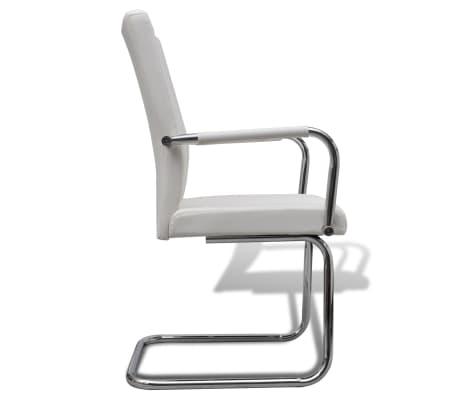 vidaxl esszimmerst hle 6 stk kunstleder wei g nstig. Black Bedroom Furniture Sets. Home Design Ideas