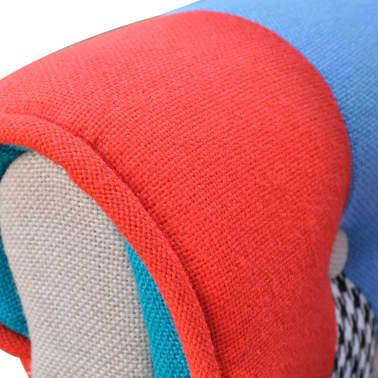 vidaXL Фотьойл с пачуърк дизайн, текстил[4/5]