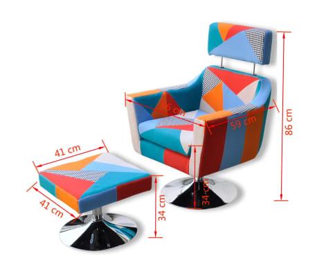 vidaXL Fauteuil TV avec design de patchwork Tissu