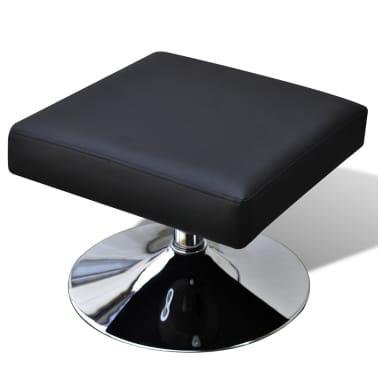 vidaXL TV Armchair Artificial Leather Black[5/7]