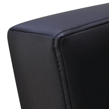 vidaXL TV Armchair Artificial Leather Black[6/7]