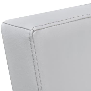 vidaXL mākslīgās ādas TV atpūtas krēsls, balts[6/7]