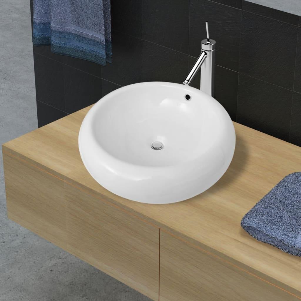 Chiuvetă de baie de lux cu preaplin 50 x 50 cm vidaxl.ro