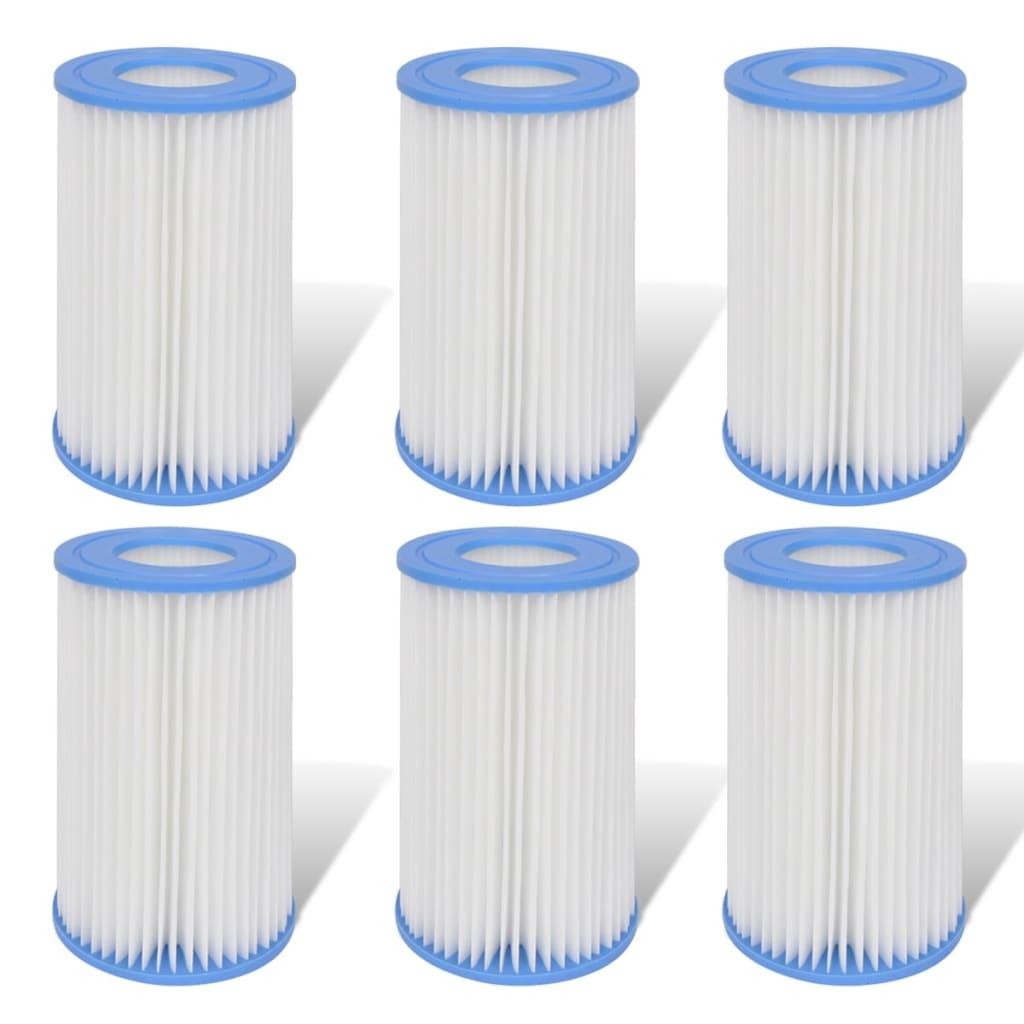 Náhradní kartušové filtry pro čerpadla o výkonu 1000 gal/h, 6 ks