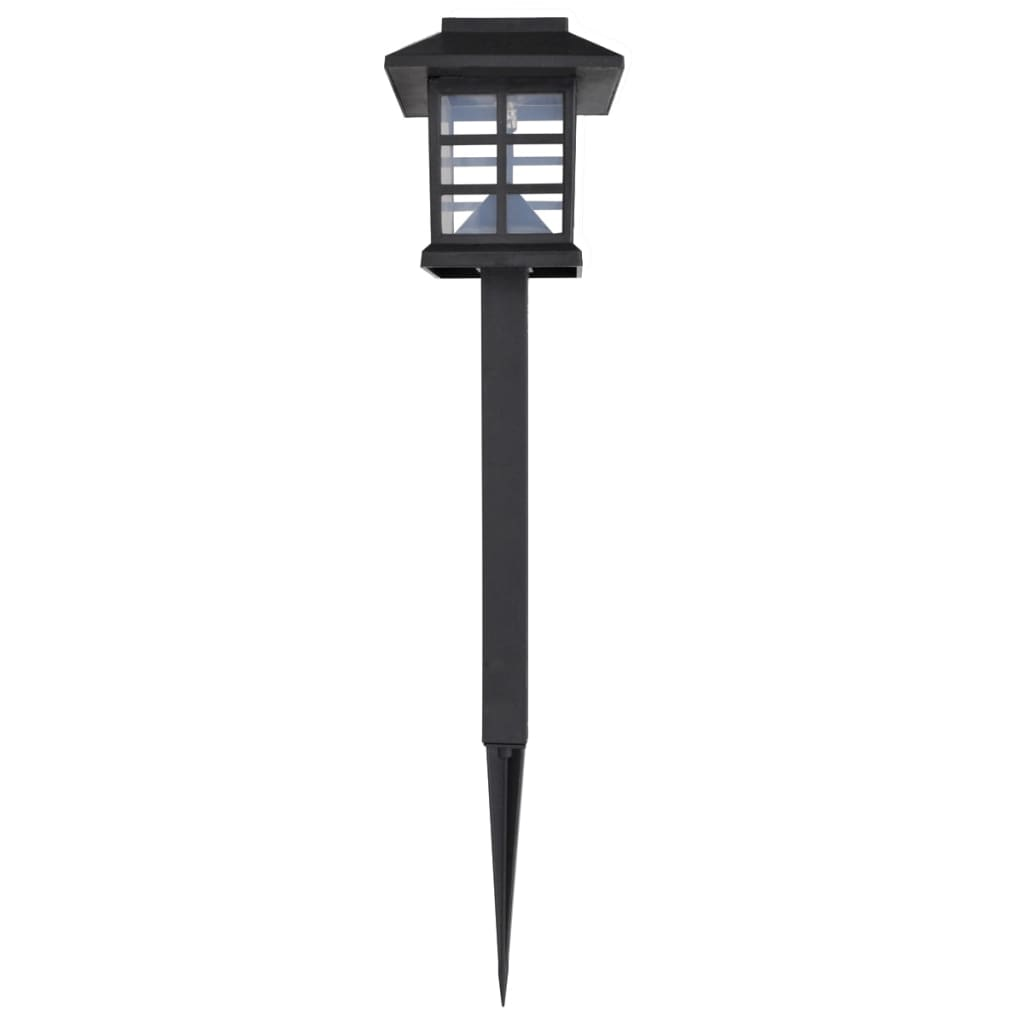Comwinkel 12-delige LED-tuinverlichtingsset solar met pin 8,6x8,6x38 cm