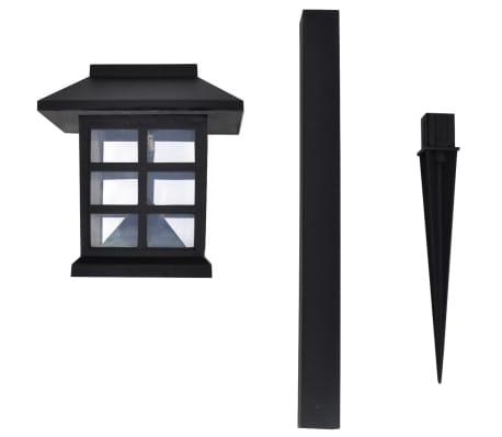 Luce esterna Lampada solare a LED 12 pz con spuntone 8,6 x 8,6 x 38 cm[4/6]