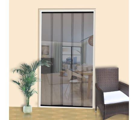 Mosquitera de puerta cortina malla de 5 piezas 220 x 125 for Cortina mosquitera puerta