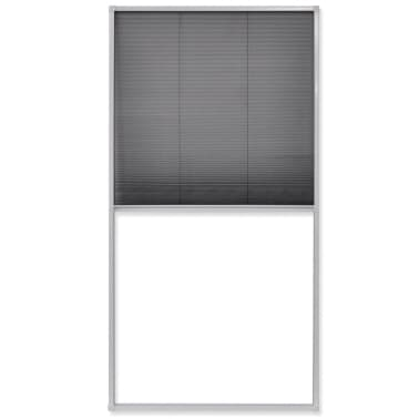 vidaXL Plisse Insect Screen Window 160 x 80 cm[2/6]