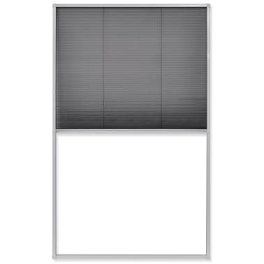 "vidaXL Plisse Insect Screen Window 63""x43.3""[2/6]"