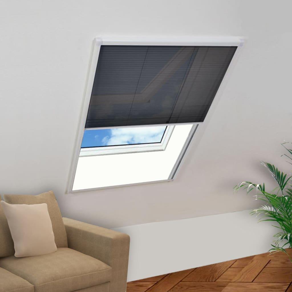 vidaXL Fereastră cu ecran de insecte plisat, 110 x 160 cm imagine vidaxl.ro