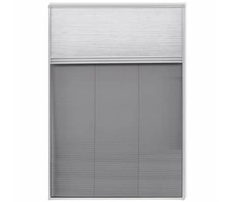 "vidaXL Insect Plisse Screen Window Aluminum 63""x31.5"" with Shade[2/8]"