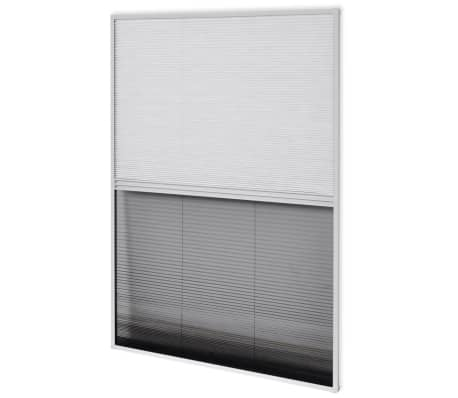 "vidaXL Insect Plisse Screen Window Aluminum 63""x31.5"" with Shade[5/8]"