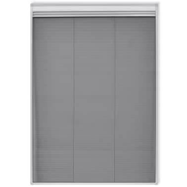 "vidaXL Insect Plisse Screen Window Aluminum 63""x31.5"" with Shade[3/8]"