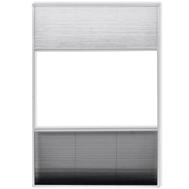 "vidaXL Insect Plisse Screen Window Aluminum 63""x31.5"" with Shade[4/8]"
