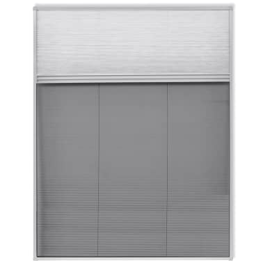 "vidaXL Insect Plisse Screen Window Aluminum 63""x43.3"" with Shade[2/8]"