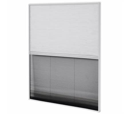 "vidaXL Insect Plisse Screen Window Aluminum 63""x43.3"" with Shade[5/8]"