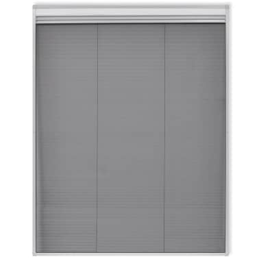 "vidaXL Insect Plisse Screen Window Aluminum 63""x43.3"" with Shade[3/8]"