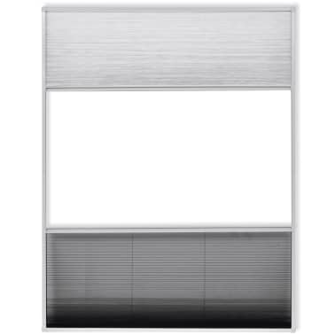 "vidaXL Insect Plisse Screen Window Aluminum 63""x43.3"" with Shade[4/8]"