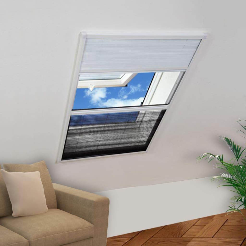 Plasă Fereastră pentru Insecte 160 x 110 cm Aluminiu Protecție solară imagine vidaxl.ro