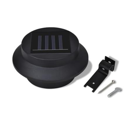 Esterno Lampada solare Set 6 pezzi Recinzione luce nero[7/9]