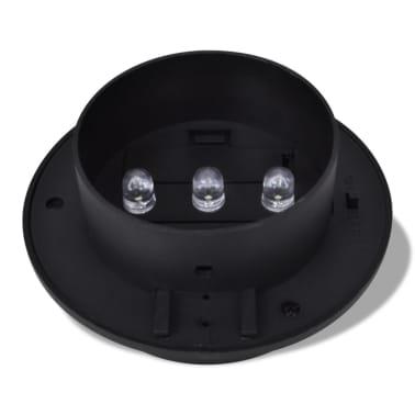 Esterno Lampada solare Set 6 pezzi Recinzione luce nero[4/9]