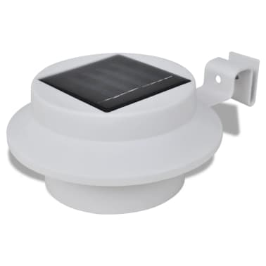 Outdoor Solar Lamp Set 6 pcs Fence Light Gutter Light White[2/9]