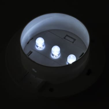 Outdoor Solar Lamp Set 6 pcs Fence Light Gutter Light White[5/9]