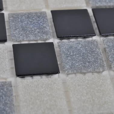 40x glass mosaik fliesen schwarz wei grau 4 28 qm g nstig kaufen. Black Bedroom Furniture Sets. Home Design Ideas