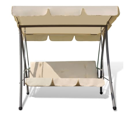 Outdoor Swing Chair / Bed with Canopy Sand White[3/7]