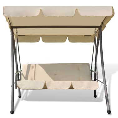outdoor swing chair bed with canopy sand white. Black Bedroom Furniture Sets. Home Design Ideas