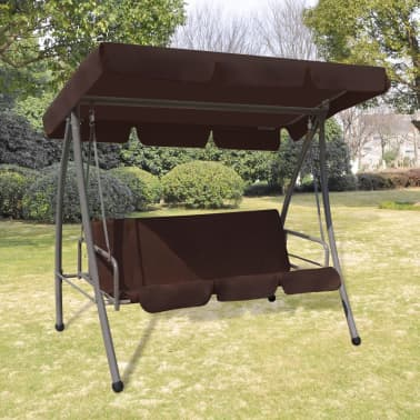Outdoor Swing Chair / Bed with Canopy Coffee[1/7]