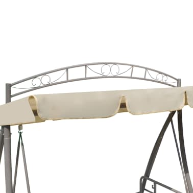 Outdoor Swing Chair / Bed Canopy Patterned Arch Sand White[5/7]