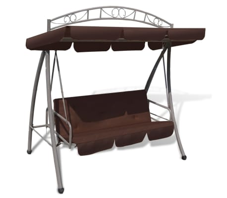 Outdoor Swing Chair / Bed Canopy Patterned Arch Coffee[1/7]