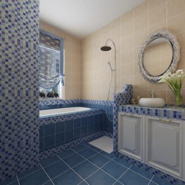 30x glass mosaik fliesen blau wei 2 7 qm g nstig kaufen. Black Bedroom Furniture Sets. Home Design Ideas