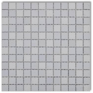 30x glass mosaik fliesen schwarz wei grau 2 7 qm g nstig kaufen. Black Bedroom Furniture Sets. Home Design Ideas