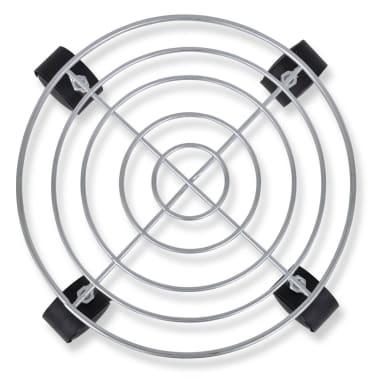 6 Soportes de metal con ruedas para macetas[2/5]