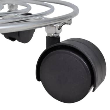 6 Soportes de metal con ruedas para macetas[5/5]