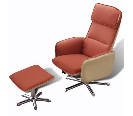 acheter vidaxl fauteuil avec repose pied r glable orange pas cher. Black Bedroom Furniture Sets. Home Design Ideas