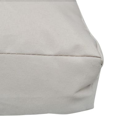 Upholstered Seat Cushion 80 x 80 x 10 cm Sand White[3/4]