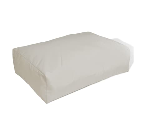 Upholstered Back Cushion 60 x 40 x 20 cm Sand White[1/4]