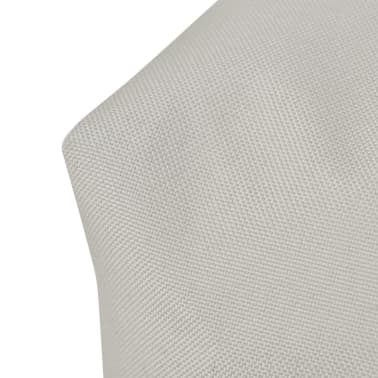Upholstered Back Cushion 60 x 40 x 20 cm Sand White[4/4]