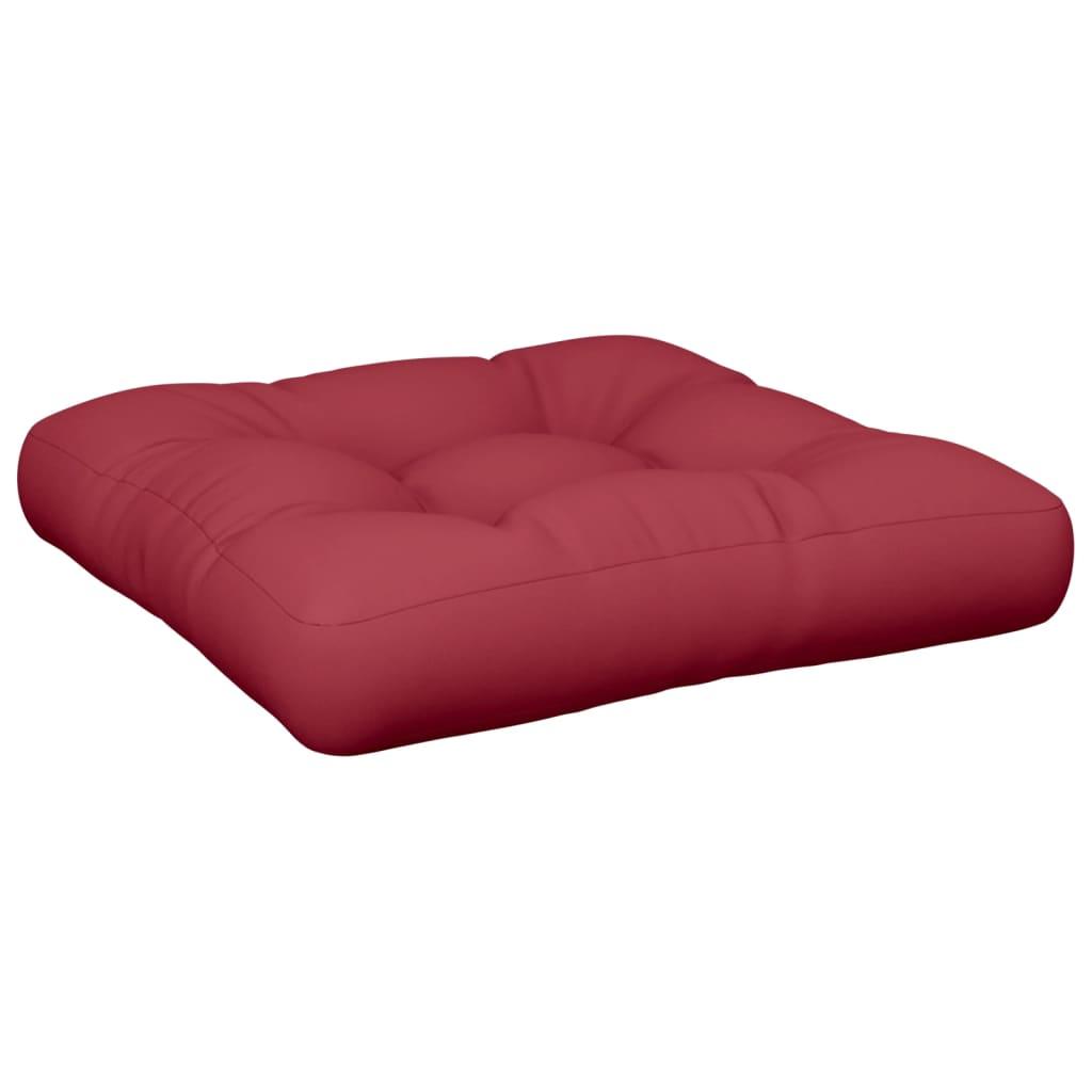 Vínově červený čalouněný sedák 60 x 60 x 10cm